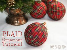 Buffalo plaid make us think of warm & toasty feelings by a roaring fire.Try these 10 chic buffalo plaid Christmas decor projects. Gold Christmas Decorations, Diy Christmas Ornaments, Christmas Projects, Christmas Crafts, Ornament Crafts, Tartan Christmas, Rustic Christmas, Christmas Fun, Tartan Weihnachten