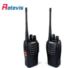 2pcs Walkie Talkie Retevis H777 UHF Frequency 400-470MHz 16CH Transceiver Single Band Ham Portable Two Way Radio A9105A