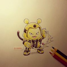 Les Pokémons dessinés de façon ridiculement trop cute!