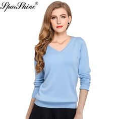2ea3263cd6f Knitted Sweater Women Pullover Cashmere Casaco Feminino 2018 Sexy V-neck  Sweater Outerwear Pullover Tops