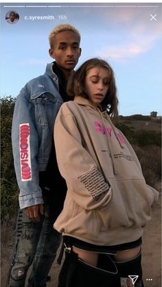 #jadensmith Jaden Smith Fashion, Odessa Adlon, Kylie, Skirt And Sneakers, The Love Club, Couple Aesthetic, Just Friends, Most Beautiful Man, Couple Pictures