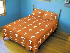 Tennessee College Twin XL Dorm Sheets