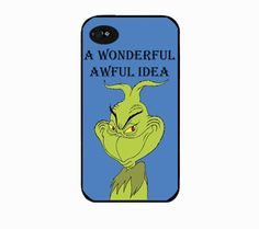 Mr Grinch  grinch the grinch Iphone 4 case by IphoneDesign on Etsy,