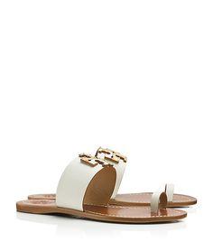 a03ba68db3ff6a Rhinestone Toe-Loop Sandals