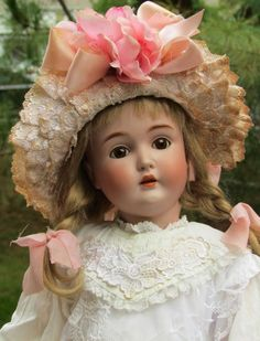 Perfect Doll by Kestner Mold 171 with original brown sleep eyes in her lovely Sailor style costume. She is in her original stamped body. She is
