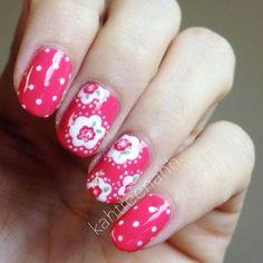 Cath Kidston inspired nails from Katrina's nails   Cath Kidston  
