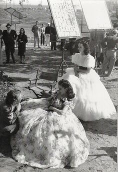 Gone with the Wind - behind the scenes photos (1939)