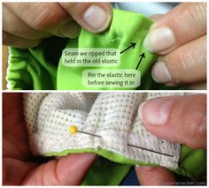 HOW TO REPLACE ELASTIC IN CLOTH DIAPERS