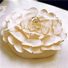 Sensational Floral Ring Pillow - or rose pillow!