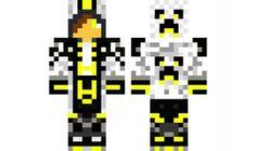 minecraft skin Yellow-Creeper-Boy