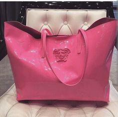 Pink patent leather Versace tote bag Beautiful Bags 7e94119b04f21