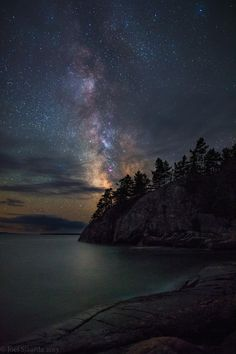 Lake Superior Starlight - One of the best experiences I have had shooting the Milky Way. It took me 11 hours to get to this spot on Lake Superior. My friend Phil Vriend (fellow 500pxer) and I decided to meet up in a town west of Sudbury and drive to Lake Superior Provincial Park. We took his boat with us, and after we arrived and finished scouting the area, we grabbed our gear and zipped out to this fantastic island. The night sky was nearly perfect, with such great clarity that my camera…
