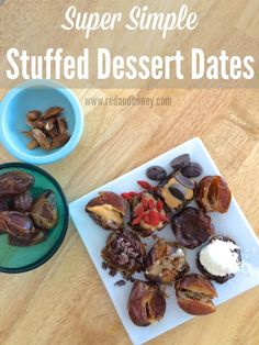 These quick and easy dessert dates are stuffed with a variety of fillings, and are the perfect no-refined-sugar treat!