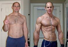 Body transformation - man - Coach Wayne - before / after