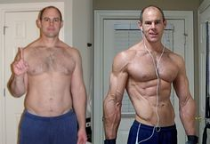 Body transformation - man - Coach Wayne - before / after