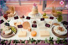 Kaas tafel op een bruiloft