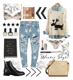 """""""Christmas Star"""" by summer-blue ❤ liked on Polyvore featuring One Teaspoon, L'Agent By Agent Provocateur, Yves Saint Laurent, Michael Kors, Balmain, Anna Sui and Kate Spade"""