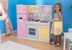 Large Pastel Kitchen - K's kitchen model, slightly updated with hooks and such