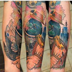 Schwein Elschwino duck tattoo