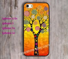 IPhone 5s case IPhone 5c case yellow Colors leaves by charmcover, $7.99