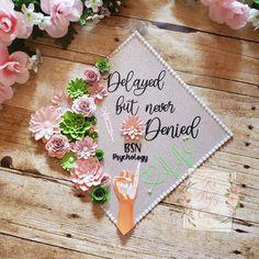 AKA inspired graduation cap/ aka cap