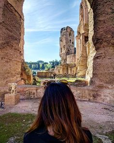 On the way back from the catacomb of #callixtus we came across the marvellous Roman baths of #caracalla  #vatican #traveltheworld #travel #photography #hubbyandwifey #couplegoals #rome #italy #italia #europe #eurotrip #europe2016 #vacation #tourist #tourism #iphone6s #nexus6p #bath