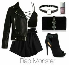 Angels & Devils - BTS outfits leather jackets outfits - Admin KathAdmin amp Angels BTSOutfits Devils Kath Mask [Taekook] - fan-fiction ER found me. Kpop Fashion Outfits, Girls Fashion Clothes, Edgy Outfits, Swag Outfits, Cute Casual Outfits, Grunge Outfits, Fasion, Fandom Outfits, Women's Casual