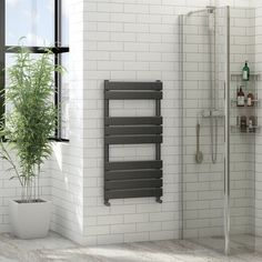 the heating co bail grey heated towel rail victoriaplum, affiliate partner Towel Heater, Electric Towel Rail, Bathroom Renos, Bathrooms, Bathroom Ideas, Family Bathroom, Bathroom Layout, Bathroom Designs, Bathroom Renovations