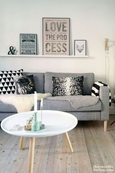That nordic feeling with Prettypegs.com furniture legs Carl on IKEA's Karlstad sofa :-) #prettypegs #furniturelegs #diy #nordicdesign