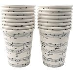 music note paper cups  Themusicdepot.com