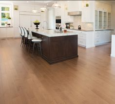Mirage Floors, the world's finest and best hardwood floors. Maple Sierra #maple #mirage #hardwood #sierra #kitchen #new2016