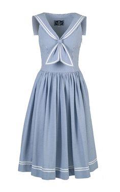 Sailor Styled A Line Dress by LENA HOSCHEK for Preorder on Moda Operandi