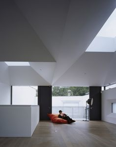 Six vaulted skylights form the roof of this London residence, as a new way to bring daylight to a property surrounded by neighbours on all sides.