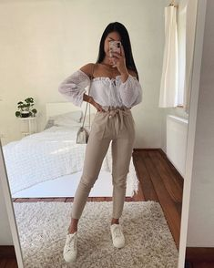 45 Impressive and Cute Summer Outfits Ideas to Try Now Cute Summer Outfits, Cute Casual Outfits, Simple Outfits, Stylish Outfits, Spring Outfits, Casual Summer, Mode Outfits, Girly Outfits, Outfits For Teens