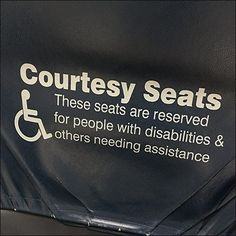 Handicapped Courtesy Seats Reserved – Fixtures Close Up Reserved Seating, Close Up, Cards Against Humanity, Kitchen, Cuisine, Kitchens, Stove, Cucina