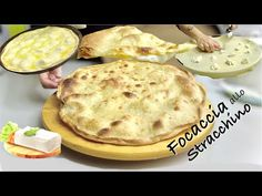 FOCACCIA ALLO STRACCHINO senza lievito CROCCANTE e CREMOSA - YouTube German Cookies, Antipasto, Air Fryer Recipes, Finger Foods, Cooking Recipes, Fun Recipes, Good Food, Food And Drink, Breakfast