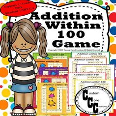 Addition to 100 Board Game.This game is a game that gives your students extra practice with addition within 100. This resource also helps your students have fun while learning to add within 100. *********************************************************************************************************...