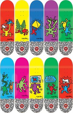 Bid now on Skate Decks (set of by Keith Haring. View a wide Variety of artworks by Keith Haring, now available for sale on artnet Auctions. Alien Workshop Decks, Alien Workshop Skateboards, Cool Skateboards, Skateboard Deck Art, Skateboard Design, Painted Skateboard, Penny Skateboard, Keith Haring Art, Skate Art
