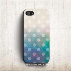 Polka Dot acuarela arte iPhone 5S caso caso iPhone por IsolateCase, $22.00