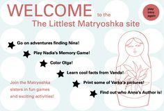 """An activity website that goes with the book titled """" The Littlest Matryoshka"""" by Corinne Demas."""