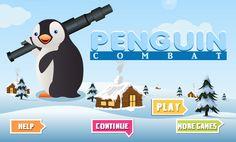 En el Hielo ha surgido una guerra con bolas de nieve de los pinguinos contra los perros, en el campo de batalla utiliza el pinguino y con le mouse tiene que lanzar la bola de nieve mediante una basuca, no dejes que derroten a todos los pinguinos.