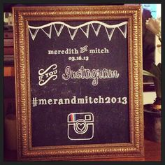 Bring social media into the fun! Offer up ways for people to see images of themselves from the party. Four Little Apples: Chalkboard Sign Tutorial Anniversary Parties, Anniversary Ideas, Instagram Sign, Chalkboard Signs, Party Entertainment, Blackboards, Photo Booth Props, Time To Celebrate, Party Photos