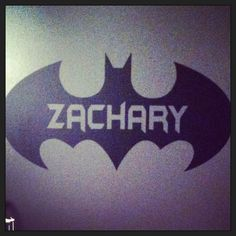 Batman wall decal in the nursery