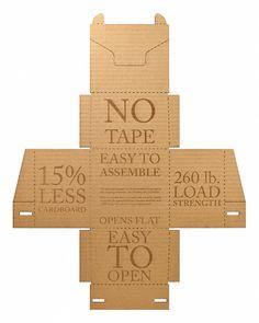 #Packaging: mira esta caja de cartón que economiza recursos y tiempo