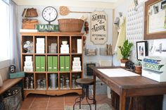 Dreamy craft space...so organized and beautifully styled (anderson + grant: Friday Favorites)