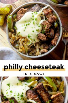 Philly Cheesesteak in a Bowl (Low Carb Keto!) - Low Carb Keto - Ideas of Low Carb Keto - This philly cheesesteak in a bowl recipe is GOLD! Because its quick and easy low carb and its steak covered in a creamy and delectable CHEESE SAUCE! Beef Recipes, Cooking Recipes, Healthy Recipes, Healthy Fats, Healthy Choices, Snack Recipes, Turkey Recipes, Yummy Recipes, Recipies