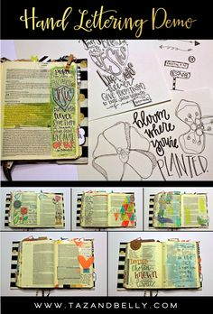 Bible Journaling | Hand Lettering Demonstration | Taz + Belly