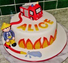 Fireman Sam cake #fireman #sam #episodes Fireman Sam Birthday Cake, Fireman Sam Cake, Fire Fighter Cake, Party Cakes, Birthdays, Birthday Parties, Cupcakes, Desserts, Kids