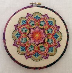 Color Me Bright, hand embroidered by Terri Mitchell