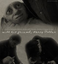 I cried for about twenty minutes after this scene in the movie...had to pause until I calmed down....In the book, I cried and my page was smeared with tears. <3 Dobby